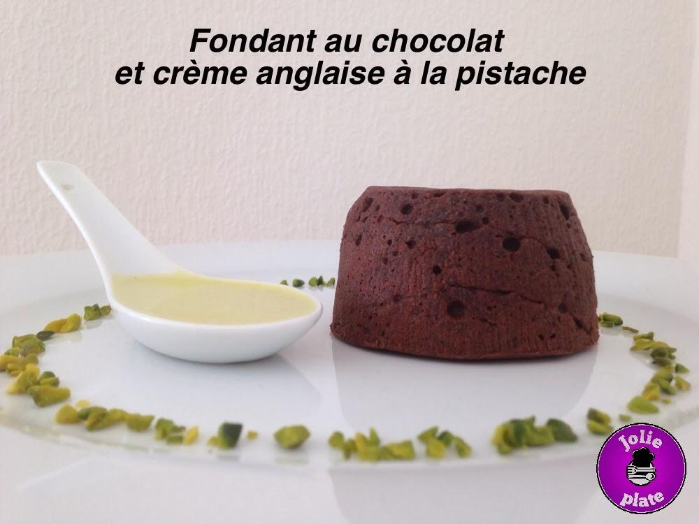 plate fondant au chocolat et cr 232 me anglaise 224 la pistache