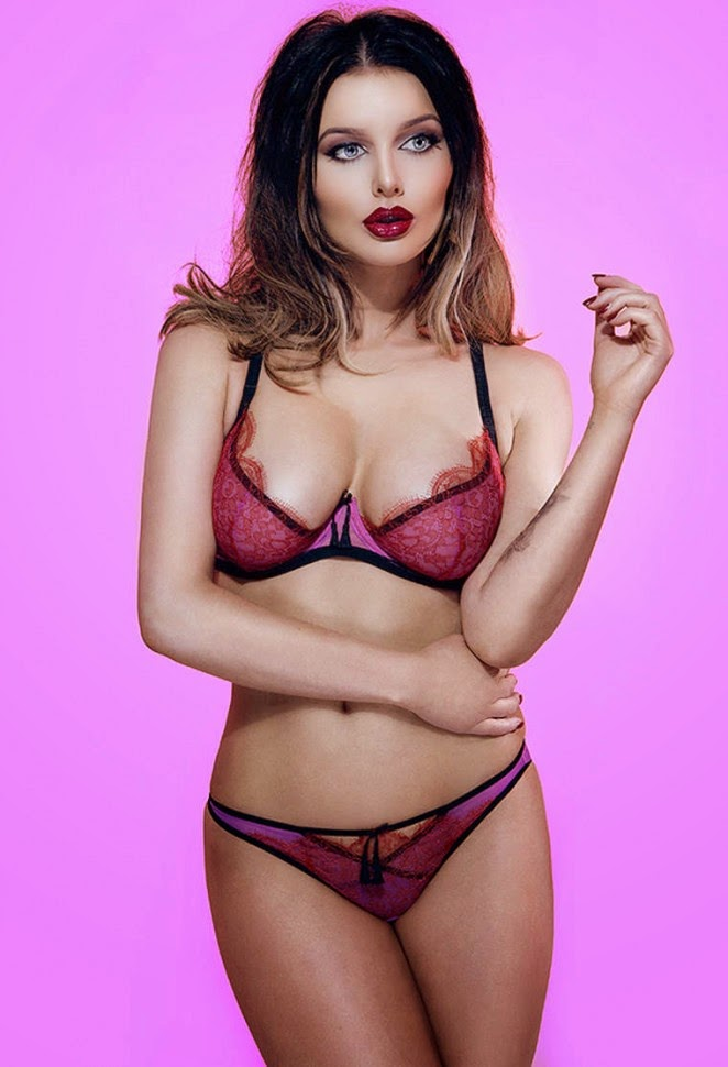 Helen Flanagan poses in skimpy lingerie for The Sun photoshoot for 2014