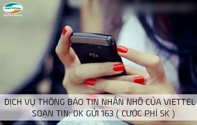 Dịch vụ tin nhắn nhỡ Missed SMS Viettel