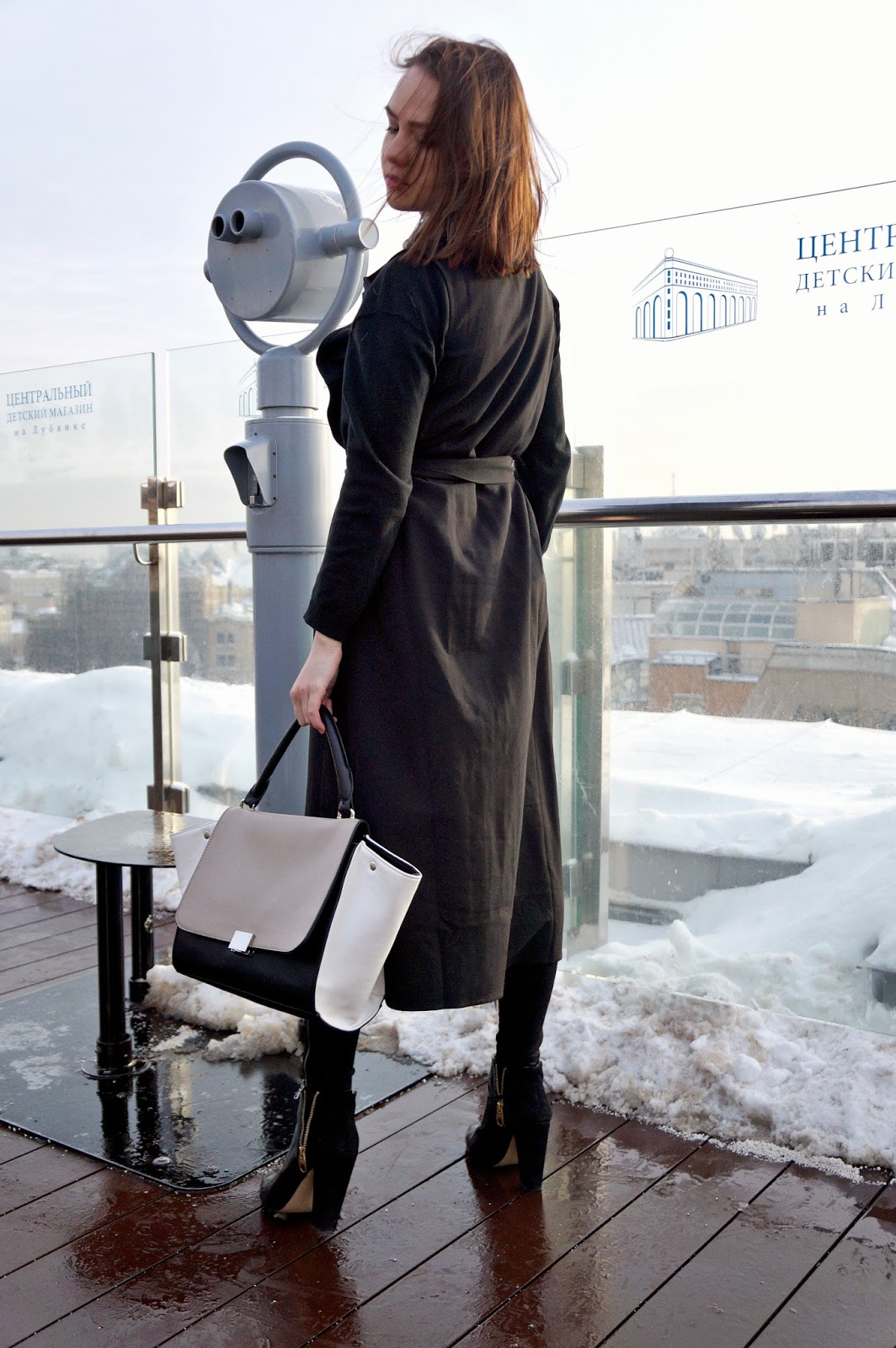Black long vest | Alina Ermilova | Fashion blogger | Zara ankle boots