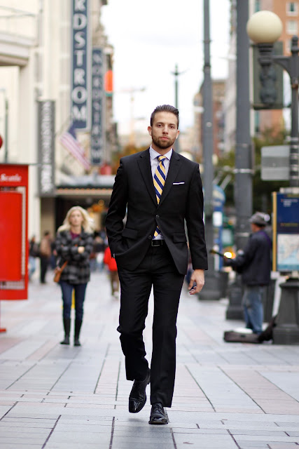 Andrew Bailey suit seattle street style fashion downtown