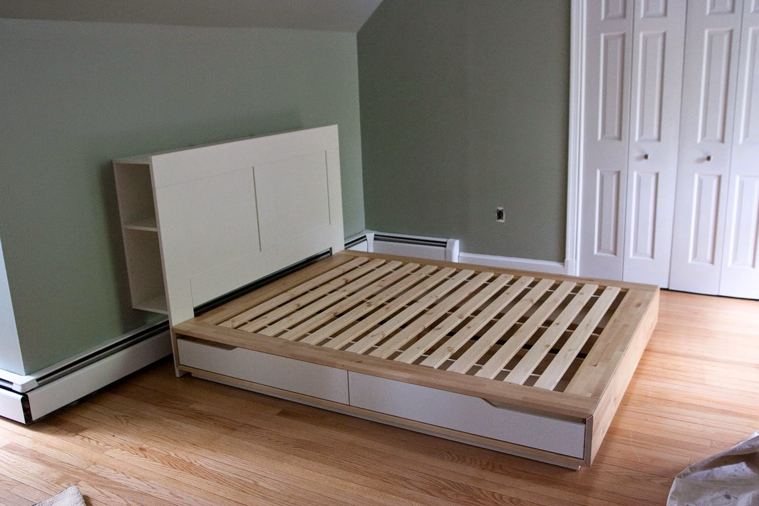 Shelf Headboard Ideas Part - 44: Ikea Bed Frame Storage Headboard