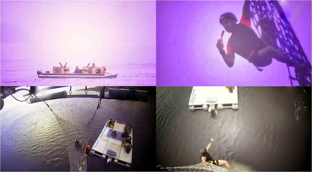 Nikitin, Gurmeet and Rajneesh on a flying net with chopper; ready to blast with a flair during last grand finale Khatron Ke Khiladi stunt