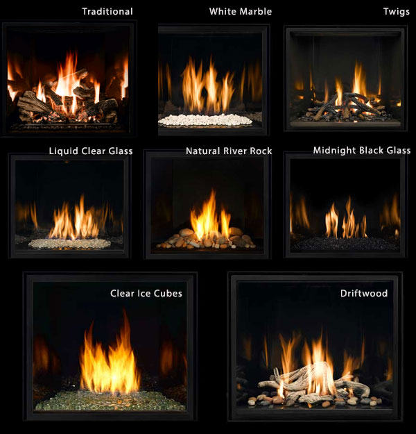 gas fireplace inserts rocks the fullview modern fireplace
