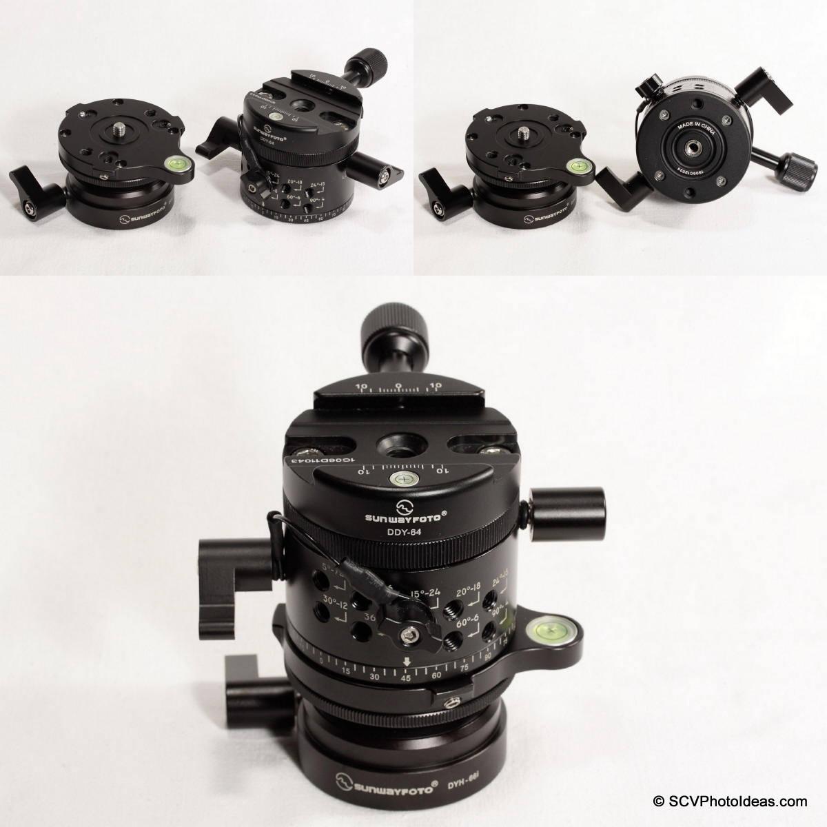 Sunwayfoto DYH-66i & DDP-64M+DDY-64 direct mounting