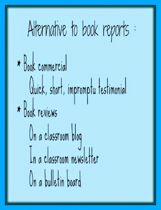 What to do instead of a book report