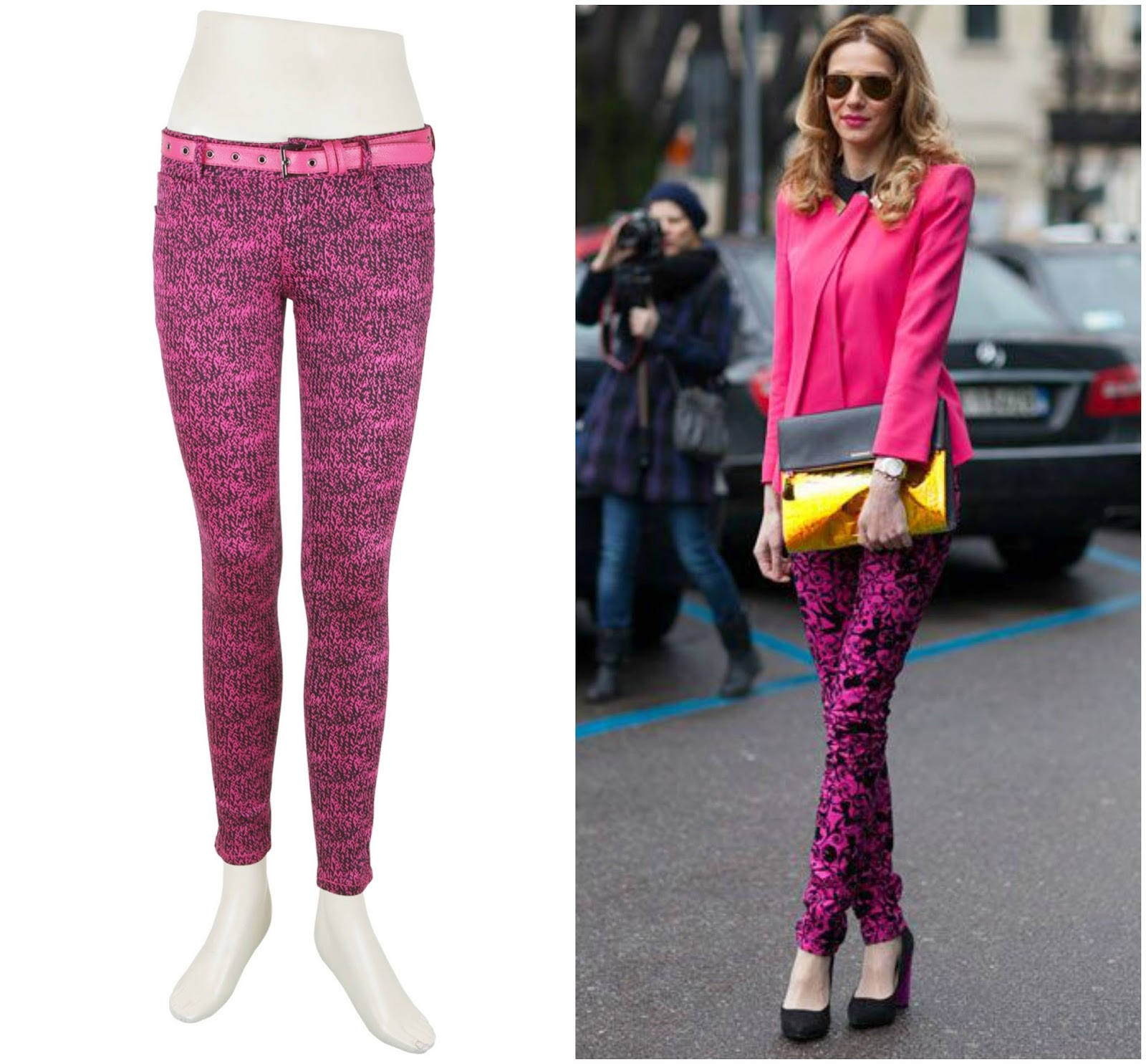 Deal printed pink jeans, printed pink jeans outfit, pink fashion