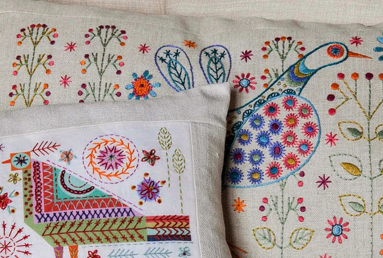 Nancy Nicholson new embroidery kit designs detail