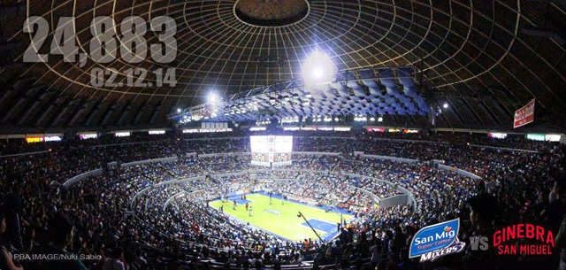 Ginebra-San Mig crowd at the Smart Araneta Coliseum