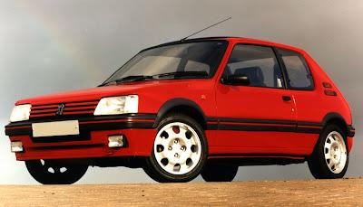 coches de los 80 peugeot 205 gti rojo