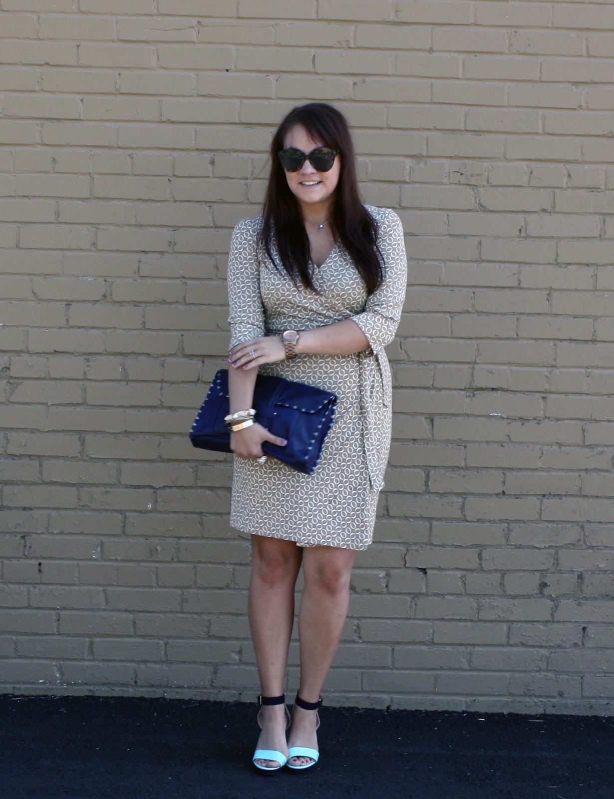 Print Wrap Dress Diane