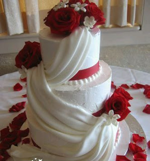 Tortas de Boda Blanco y Rojo, parte 4
