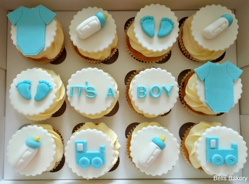 baby shower fondant cupcakes