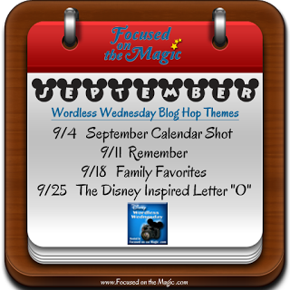 The Disney Wordless Wednesday Blog Hop September Themes