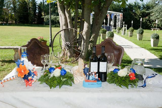 matrimonio con lo sponsor chiara e maurizio allestimento tavolo sposi