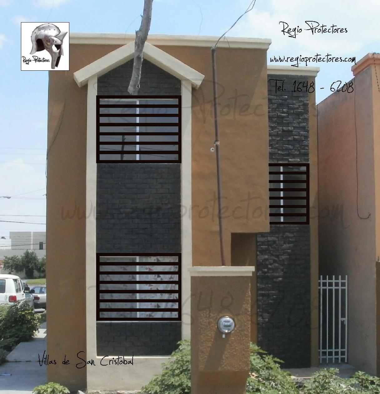 Protectores para ventanas, plano de fabricación y montaje, Fracc ...