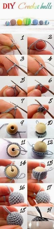 Cómo forrar cuentas de madera con tejido al crochet para bisuteria