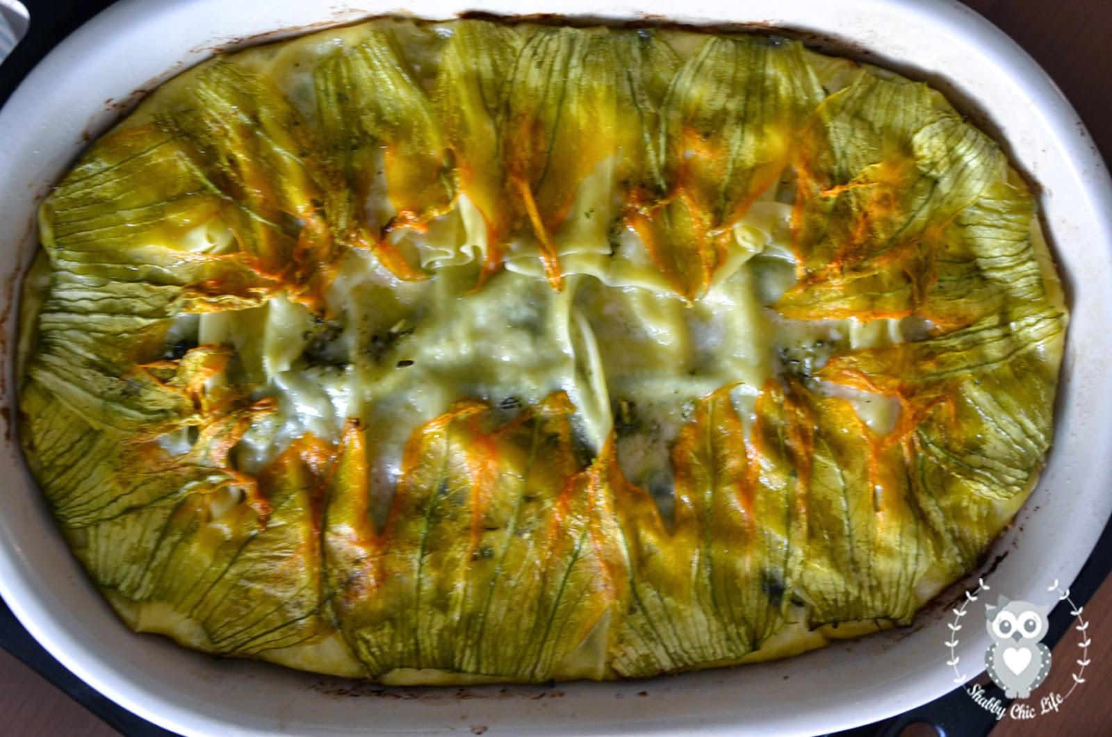 Lasagne al pesto di erbe e squacquerone
