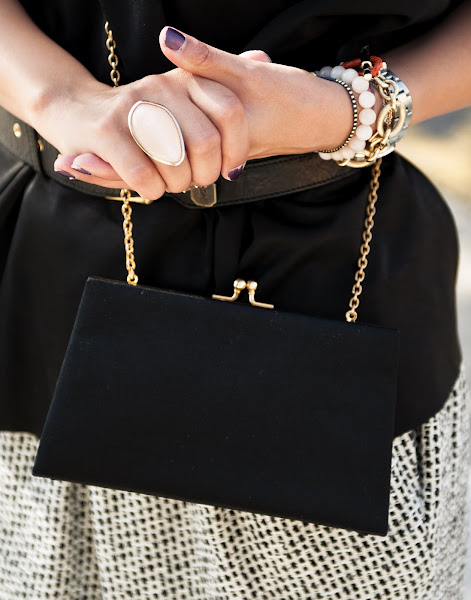Bryan Whitely photographs Jessica Moazami aka Fashion Junkie featuring H&M ring and vintage bag