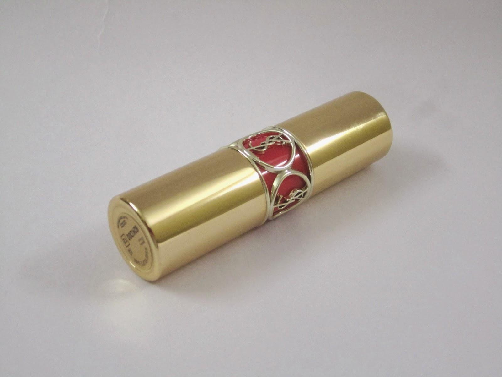 YSL Rouge Volupte Shine Lipstick #12 Corail Incandescent
