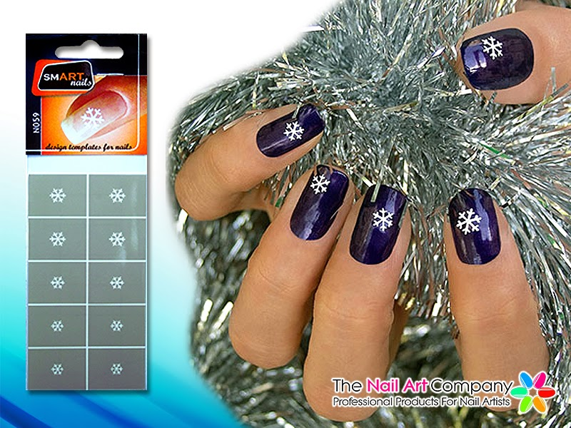 The Nail Art Company Christmas Nail Art Festive Nail Stencils