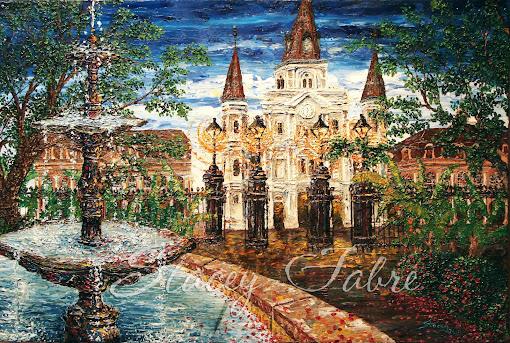 Jackson Square Fountain Painting