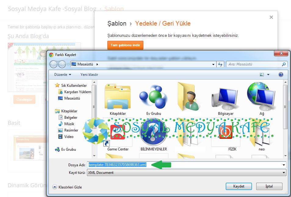 blogger tema xml dosyası indirme