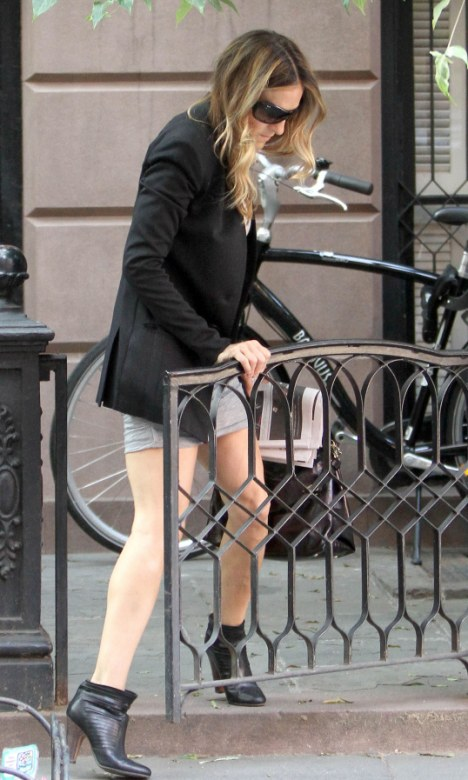Cellulite-free Sarah Jessica Parker proves she can still pull off a tiny minidress at 46