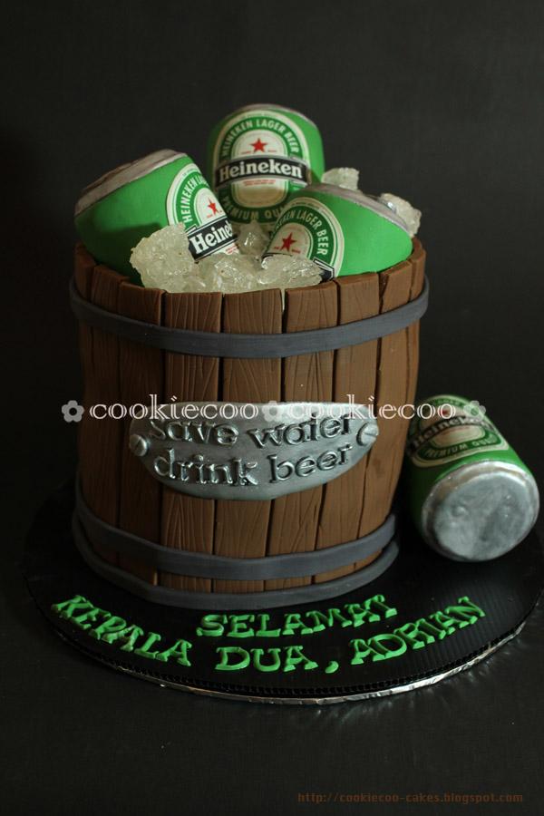 Beer Design Birthday Cake : cookiecoo: Heineken beer cake for Adrian