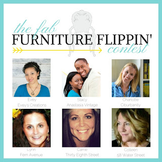 fab flippin contest, furniture contest, link party