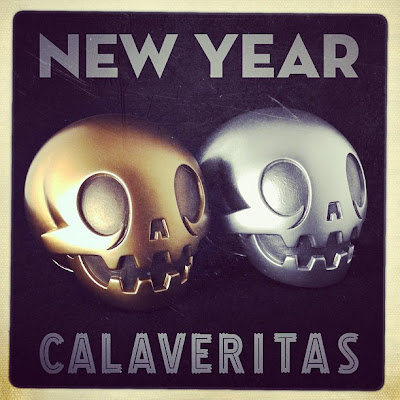 Gold & Silver New Year Calaverita Vinyl Figures by The Beast Brothers