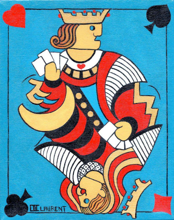 big playing card Claude Laurent