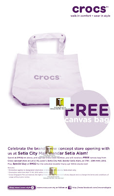 New Crocs Store FREE Bag