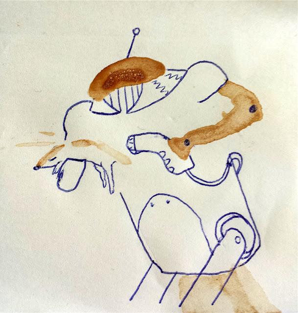 Kreativnotiz: Fönroboter #kaffee