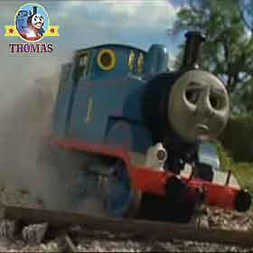Thomas tank in trouble the number 1 engine Thomas train knew the railway train crash was his fault