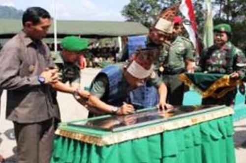 Persemian Simalungun Military Training Area, Sumatera Utara. PROKIMAL ONLINE Kotabumi Lampung Utara