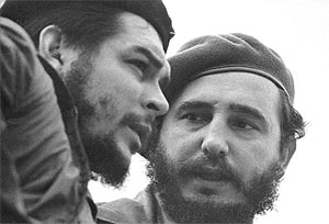 Che Guevara and Castro meet