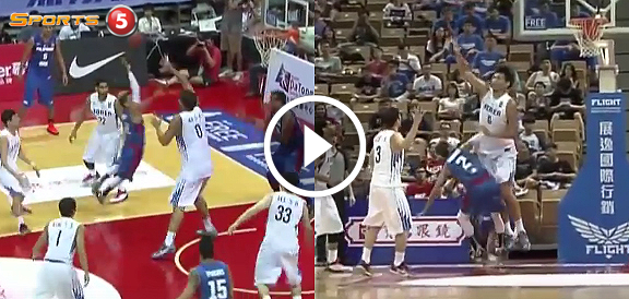 "Terrence Romeo's FEARLESS Drive Against Korea's 7'3"" Center (VIDEO) Jones Cup 2015"