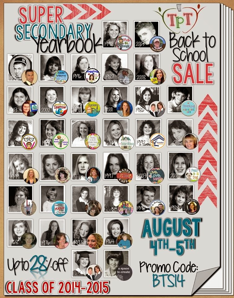 Back to School Sale on TpT