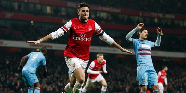 Hasil Pertandingan Arsenal Vs West Ham United