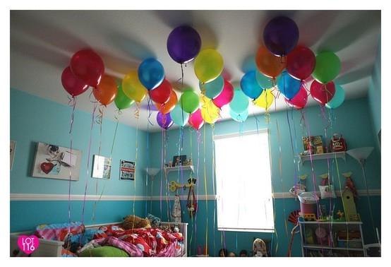 Un blog une maman un blog de maman mais pas que id es simples de d coration avec des - Faire tenir des ballons en l air sans helium ...