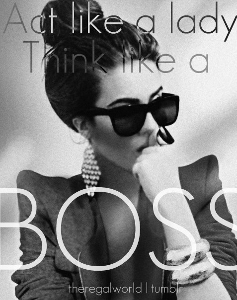 woman boss: