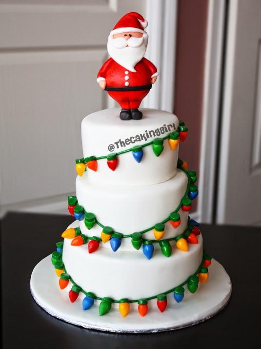 Fondant Cake For Christmas : TheCakingGirl: Fondant Christmas Light Cake Tutorial!