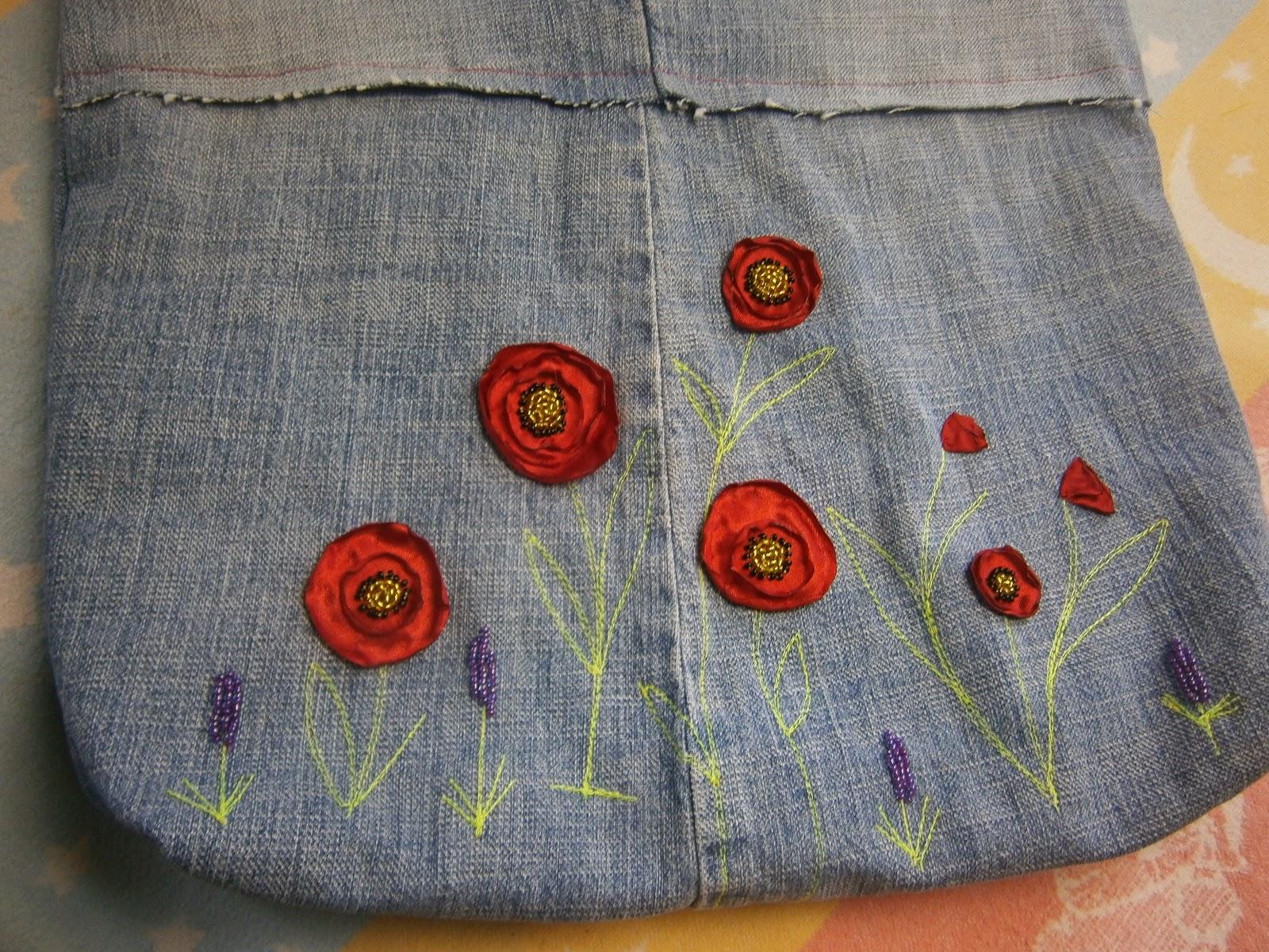 сумка из старых джинсов своими руками.