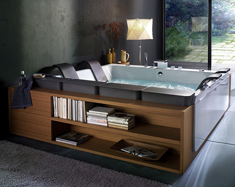 Itu0027s Called As Central Bathtub Of Thailand Art, This Modern Bathtub Will  Give You The New Experience To Have A Spa In Your Home.