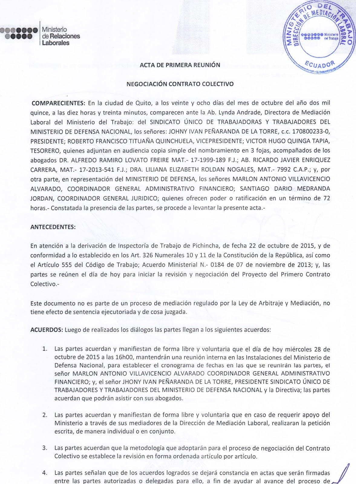 Sindicato midena comunicado urgente for Buro juridico