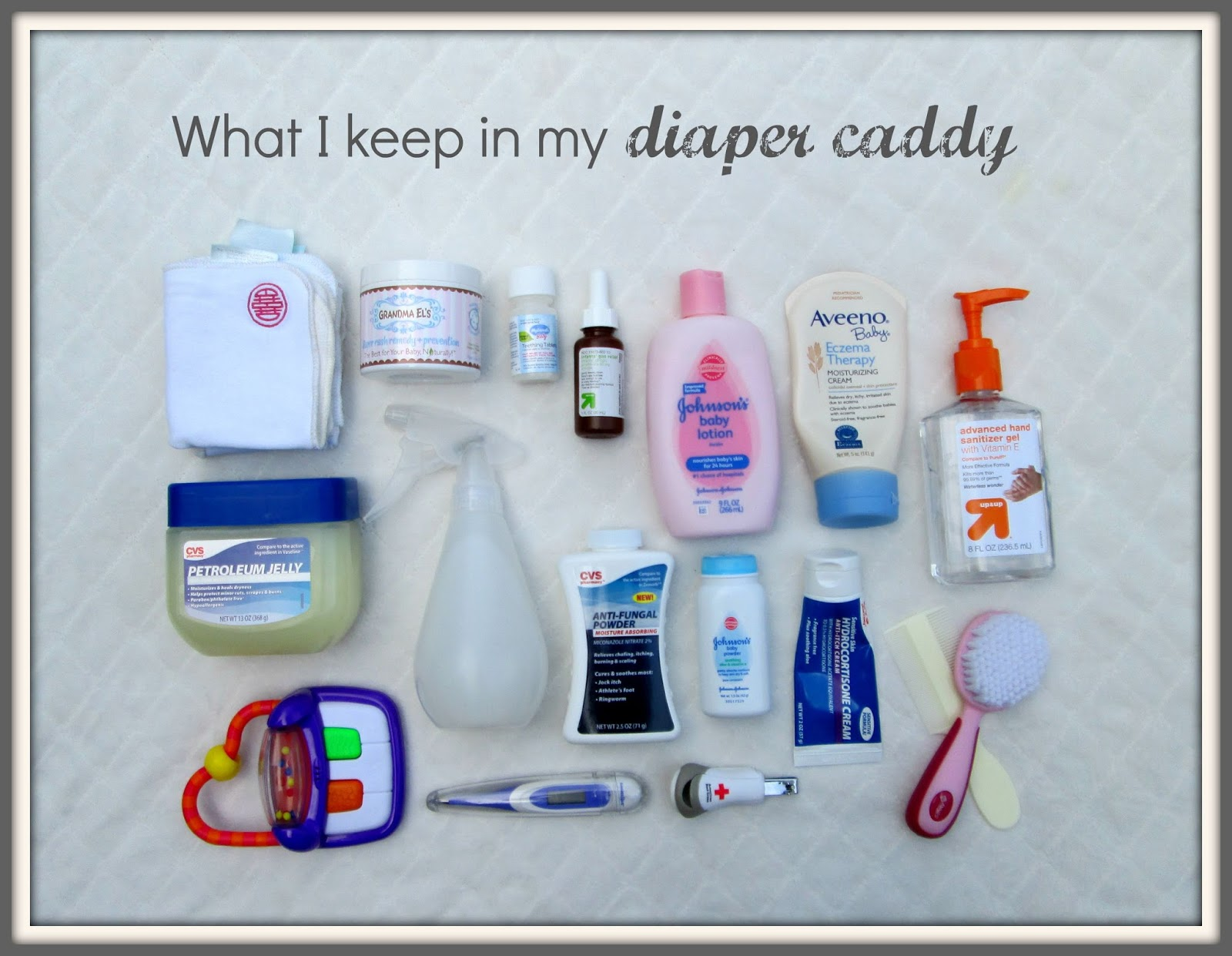 Laura\'s Plans: What I Keep in my Organized Diaper Caddy