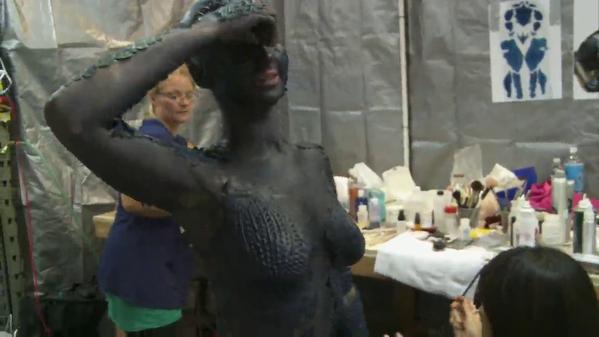 Jennifer Lawrence Mystique Makeup Process Jennifer Lawrence: Mys...