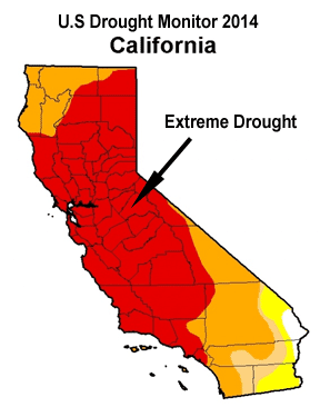 US/California Drought Map 2014