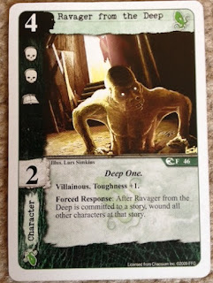 card from Call of Cthulhu living card game